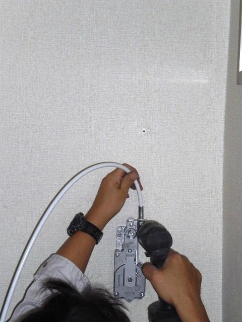 (6)新規ハンドルボックス及びコンジットケーブル取付